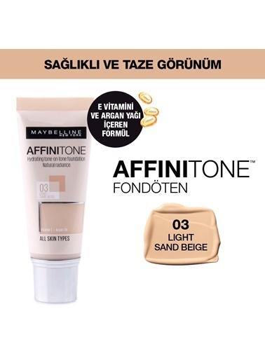 Maybelline Affinitone Fondoten 03 Light Sand Beige Renkli